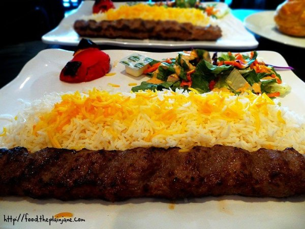Beef Kabob Plate - Naseems Bakery and Cafe - San Diego, CA