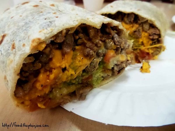 california burrito - jv's mexican food - san diego, ca