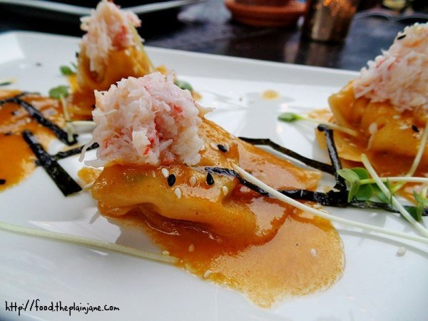 Crab and Lobster Wontons at The Patio on Lamont Street