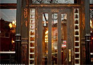 Frontier's weathered front door