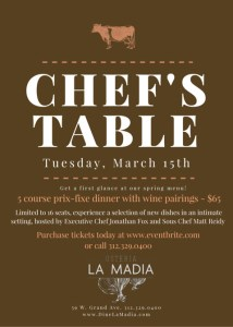 ONLY 16 places at the table at Osteria la Madia Chef's dinner