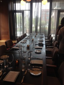 Swift and Sons beautiful private dining area