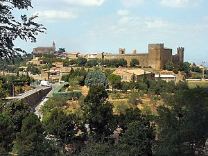 Brunello di Montalcino - home of fabulous rich Tuscany reds. Credit: Wikipedia