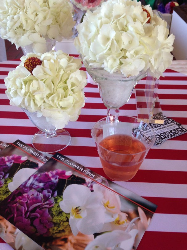 Party flowers at Cafe Brauer