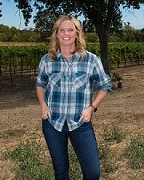Karissa Kruse in her vineyard mode