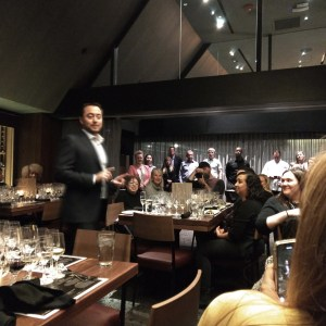Owner McEnery welcomes trade & press in the new downtown party room