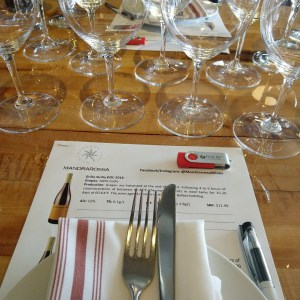Mandrarossa wines at Two Restaurant