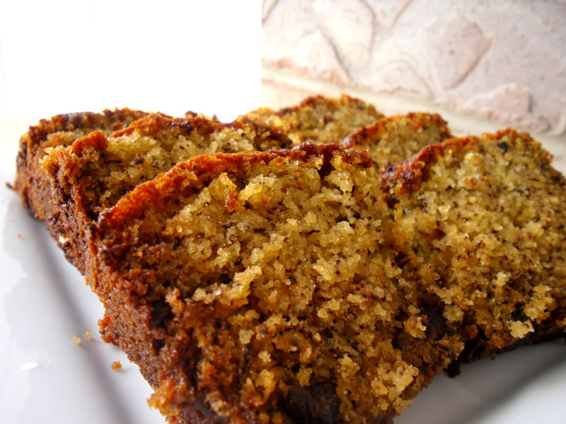 Cocoa Nib Sour Cream Banana Bread: Gourmet Style - Food Apparel