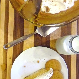 Pumpkin Cheesecake with Gingersnap Crust at FoodApparel.com