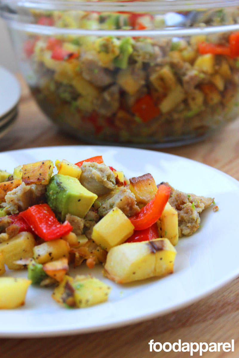Sweet Potato Hash with Sausage and Avocado: Quick 'N Easy Style