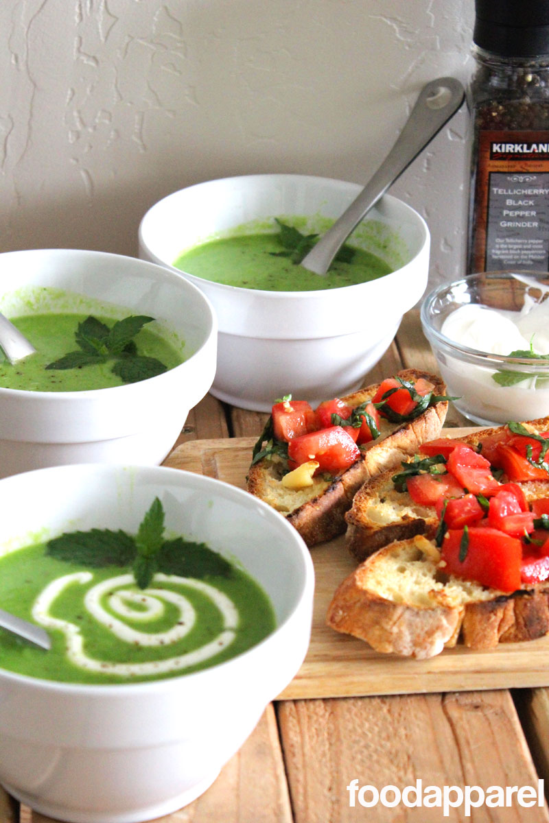 Fresh Minted Pea Soup: Classic Style