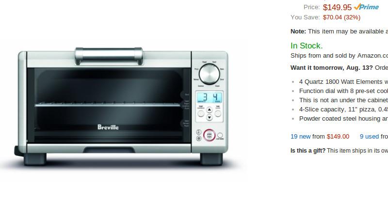 Breville BOV450XL Mini Smart Toaster Oven