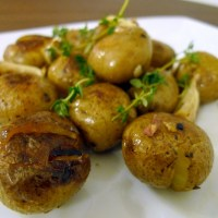 Crisped Roasted Mini Potatoes