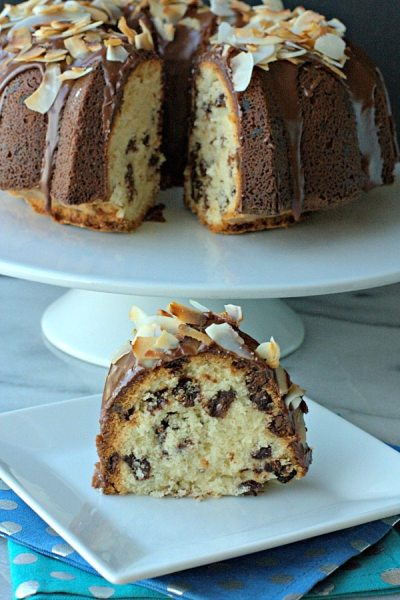 Coconut Chocolate Chip Pound Cake - Food Folks and Fun