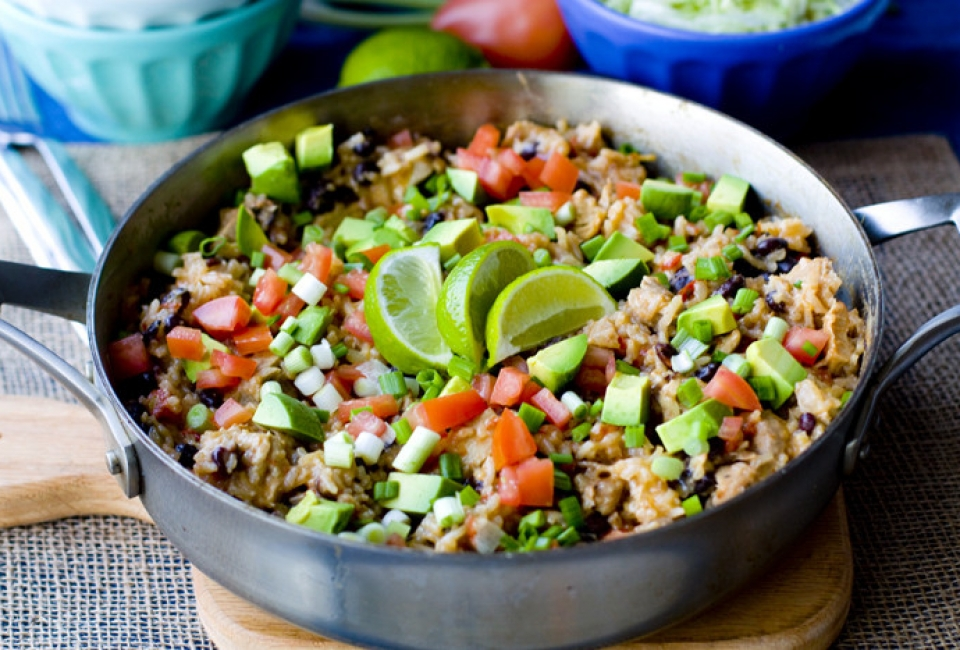 One Pot Chicken Burrito Bowls Recipe