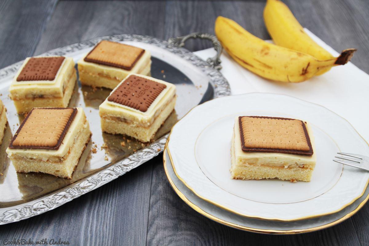 Schoko-Bananen-Schnitten zu Gast