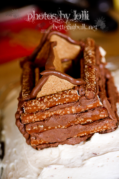 pretzel log house takes shape