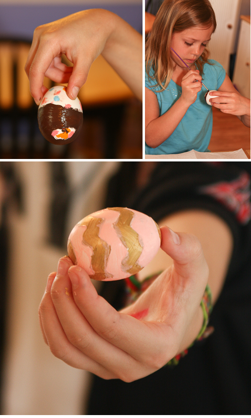 painting hollow eggs