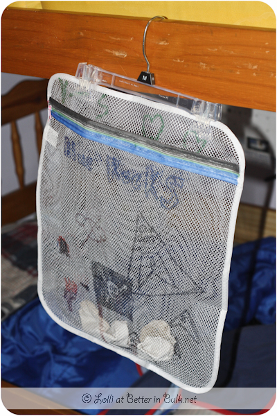 hanging mesh laundry bag for socks