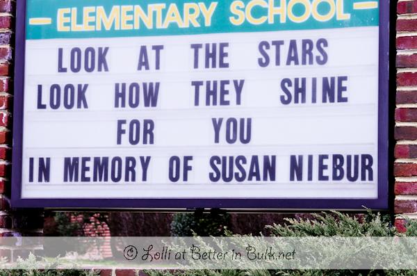 Susan Niebur memorial