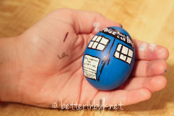 Dr. Who Tardis Egg