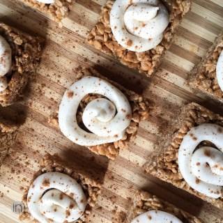 Cinnamon Roll Rice Krispie Treats Recipe