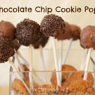 Chocolate Chip Cookie Pops Recipe