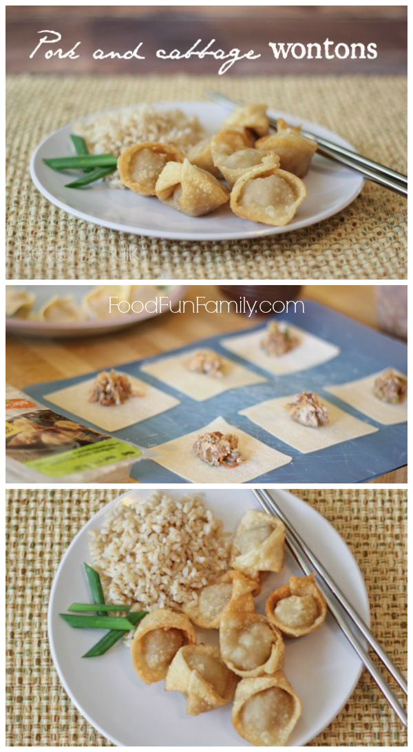 Deliciously easy pork and cabbage wontons from Food Fun Family