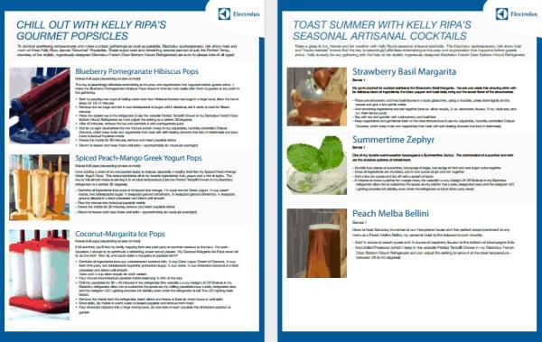 Kelly Ripa summer #perfecttemp Recipes