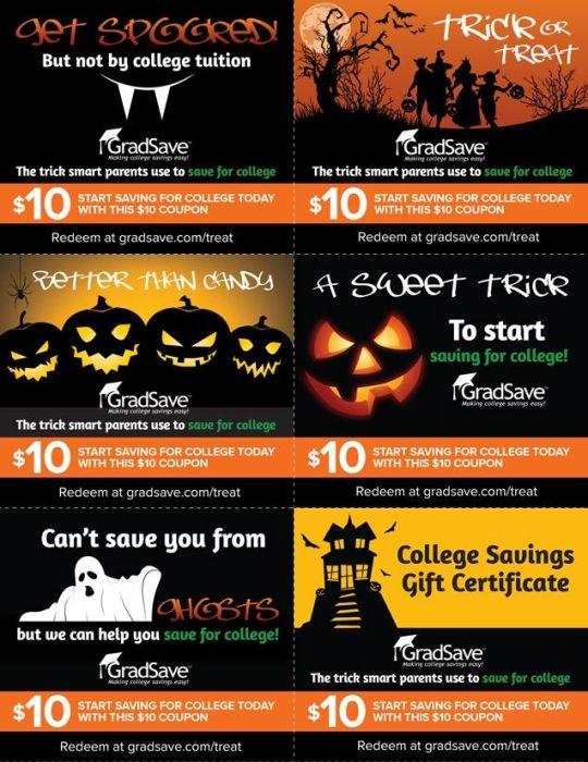 GradSave Halloween coupons