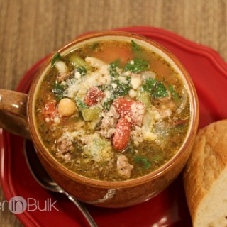 15 Minute Minestrone Soup #15MinuteSuppers