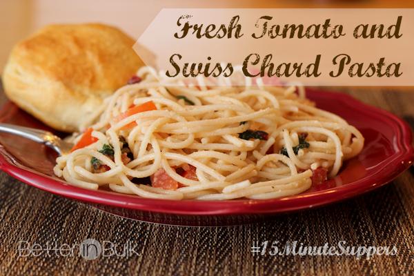 tomato and swiss chard pasta