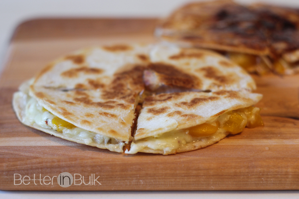 peach quesadillas
