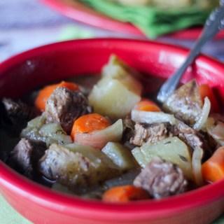 Irish Stew with Irish Soda Bread {Crock Pot}