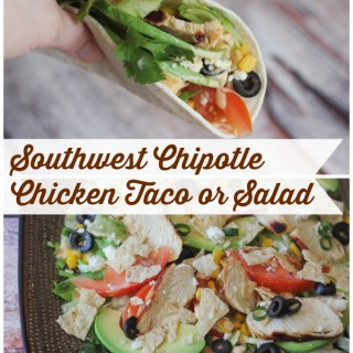 Southwest Chipotle Taco or Salad Recipe