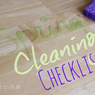 Spring Cleaning Checklist for a #HealthierHome