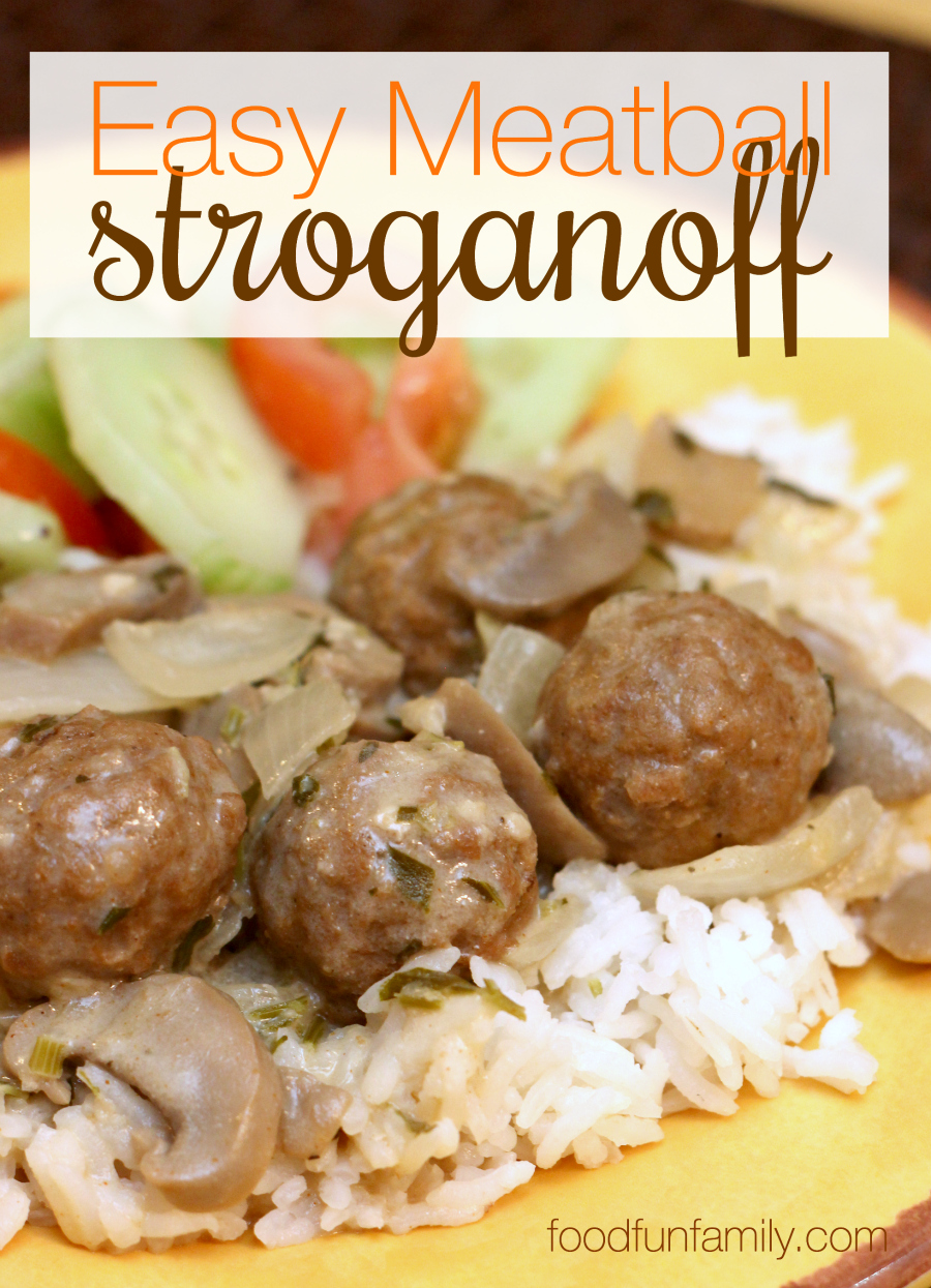 I love a good beef stroganoff, but I also love a quick and easy weeknight meal for the family. This easy meatball stroganoff meets both needs - a quick, easy, and delicious recipe!