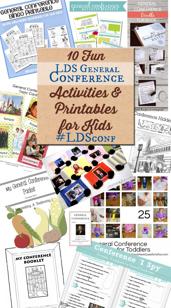 10 Fun LDS General Conference Activities and Printables for Kids #LDSconf