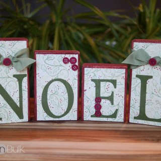 NOEL Blocks Christmas Craft