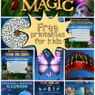 Strange Magic Activity Sheets and Printables