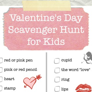 Valentine's Day Scavenger Hunt Printable for Kids