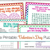 Valentine's Day Puzzle Cards {A Free Printable}