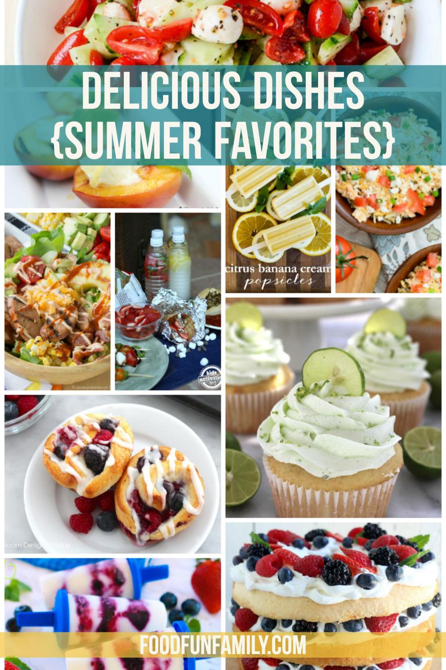 Delicious Dishes Recipe Party - Summer Favorites Special Edition - some of my favorite summer recipes from fellow bloggers, from easy summer meals to delectable summer desserts