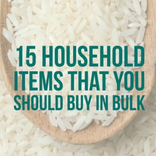 15 Household Items That You Should Buy in Bulk