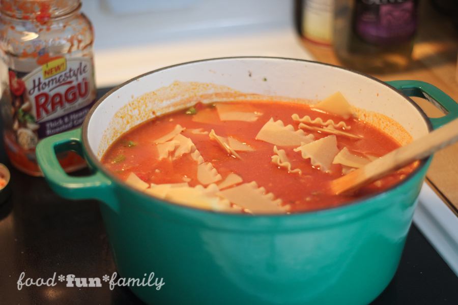 EASY Homestyle lasagna soup recipe