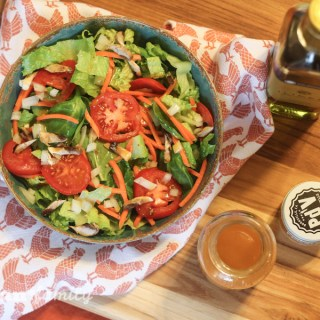 Homemade French Dressing on a Fresh Garden Salad