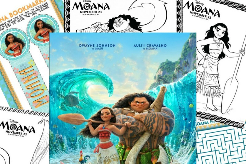 Free Colouring Pages Moana : Moana coloring pages and activity sheets