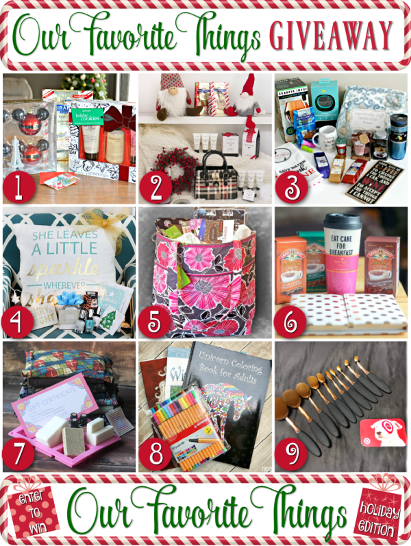 Our Favorite Things Giveaway blog hop