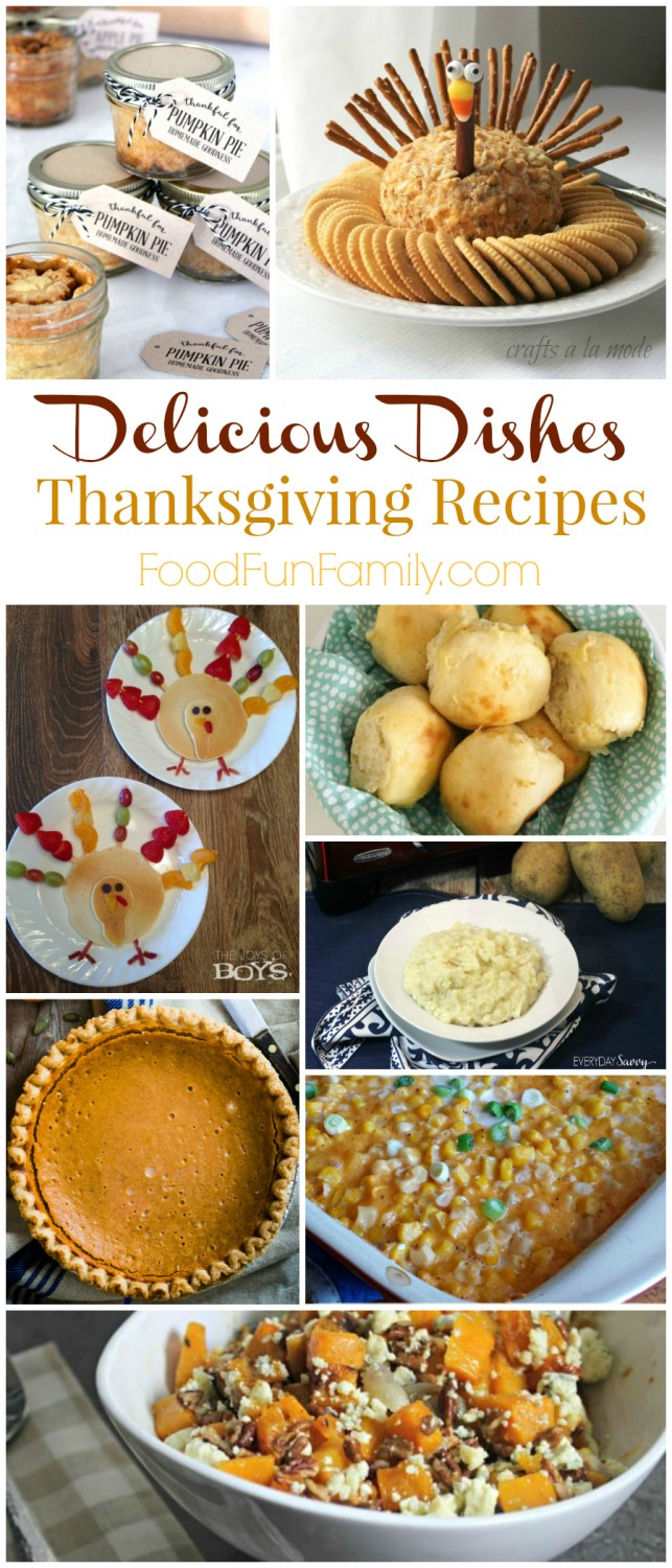 Delicious Thanksgiving Recipes - Delicious Dishes Recipes Party #44, full of hundreds of amazing recipes that are perfect for the fall and winter!