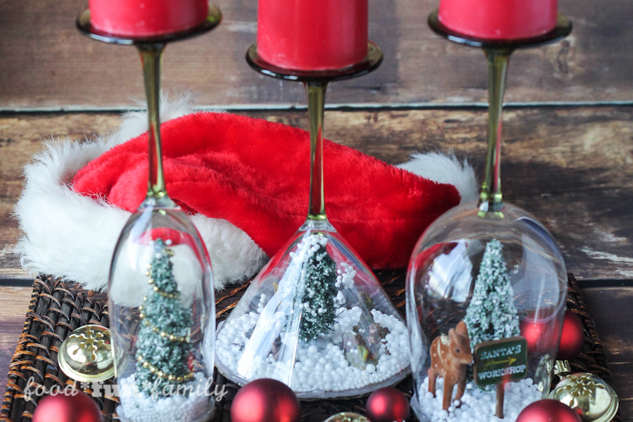Simple Christmas Cloche Candle Holder
